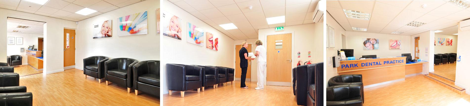 Park Dental Practice reception area design and build