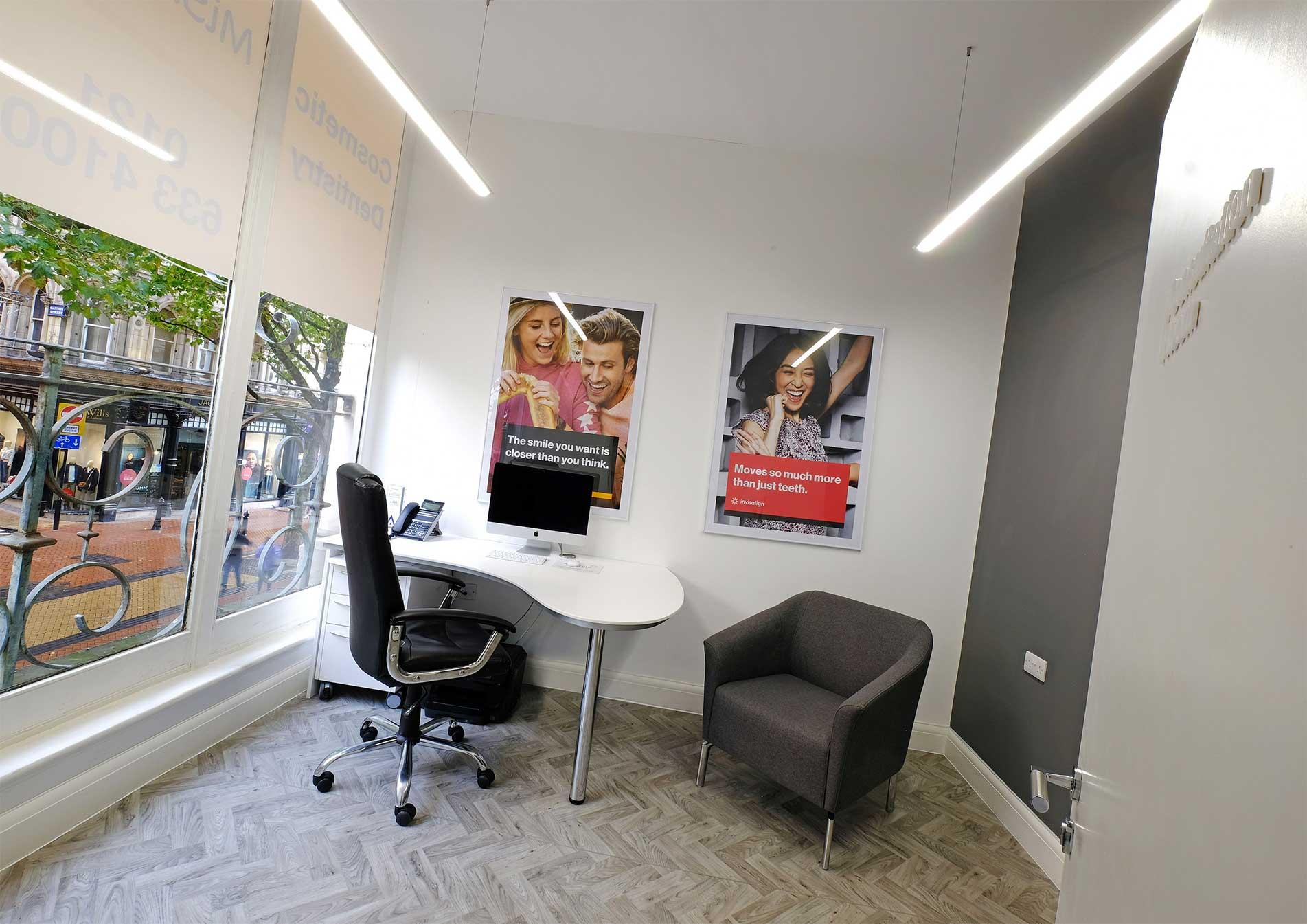 MiSmile Birmingham Dental Practice Consultation Room design and build