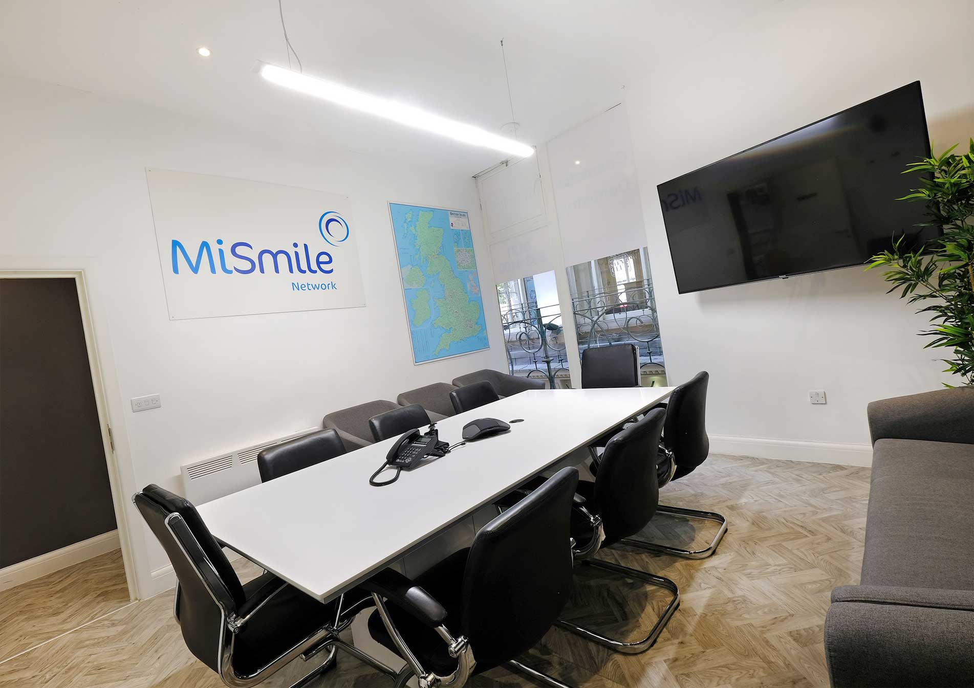 MiSmile Birmingham Dental Practice Meeting Room design and build